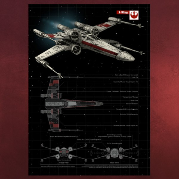Star Wars - X-Wing Metall Poster