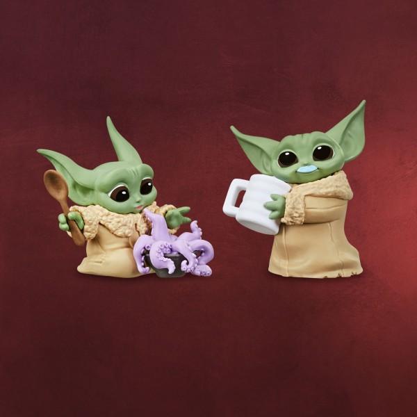 Grogu mit Tentakelsuppe und Milchbart-Pose Mini-Figuren-Set - Star Wars The Mandalorian