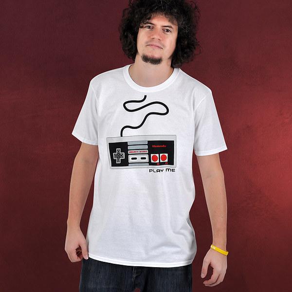 Nintendo - NES Controller T-Shirt weiß