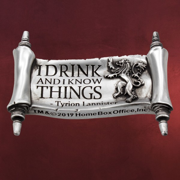 Game of Thrones - Tyrion Drink And Know Things Magnet
