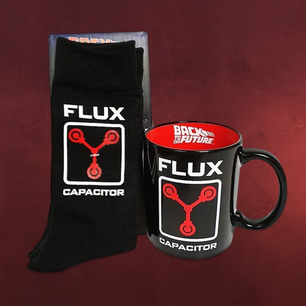 Zurück in die Zukunft - Flux Capacitor Socken und Tasse Set