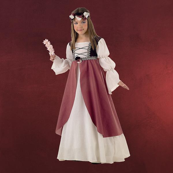 Mittelalterliche Brautjungfer - Kinderkostüm