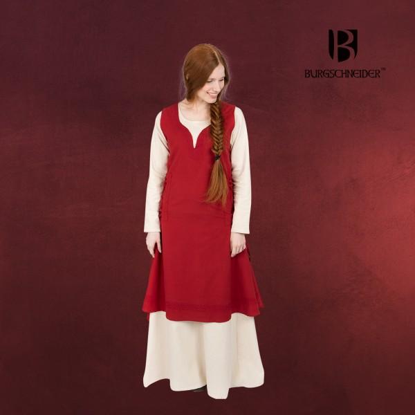 Mittelalter Kleid Lannion mit Schnürung rot