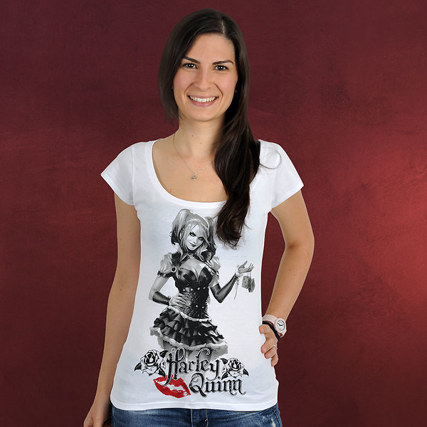 Harley Quinn - Time To Play Girlie Shirt weiß