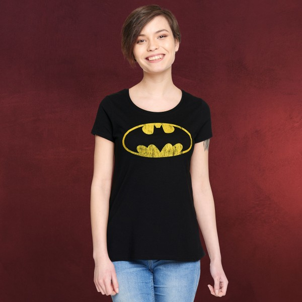 Batman - Distressed Logo T-Shirt Damen
