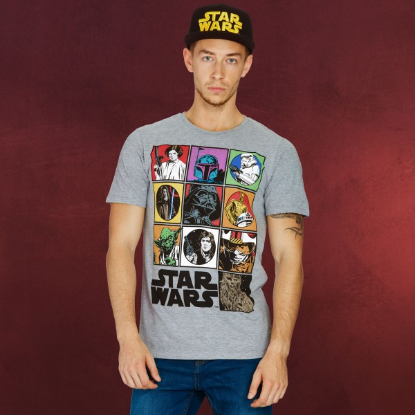 Star Wars - Characters T-Shirt grau