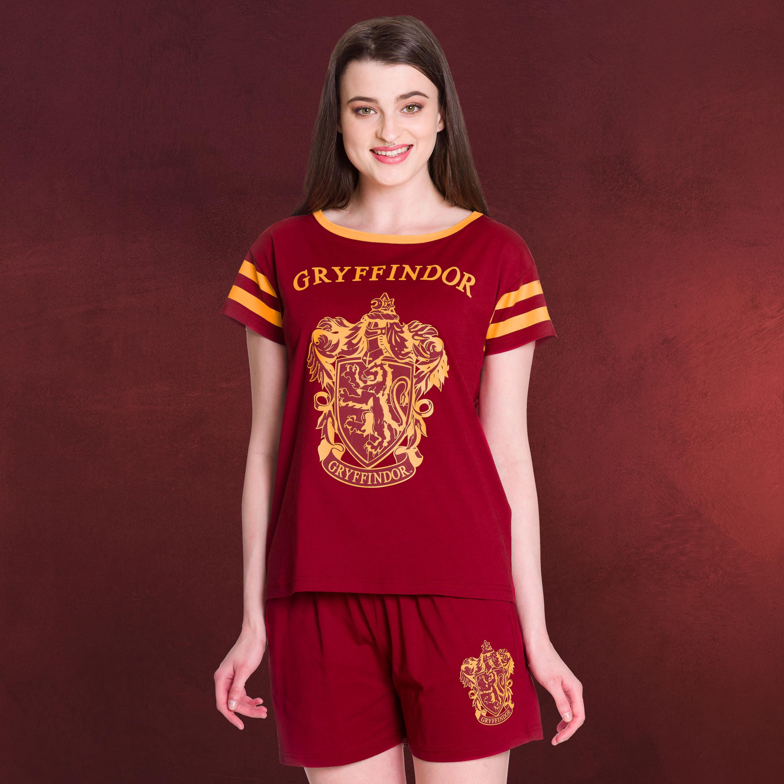 buy popular 73366 61ad3 Harry Potter - Gryffindor Pyjama kurz Damen