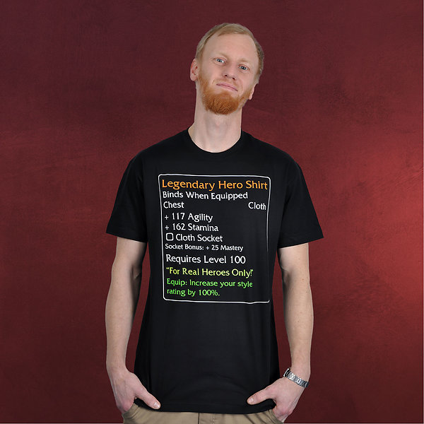 Level-100-Item - Legendary Hero T-Shirt