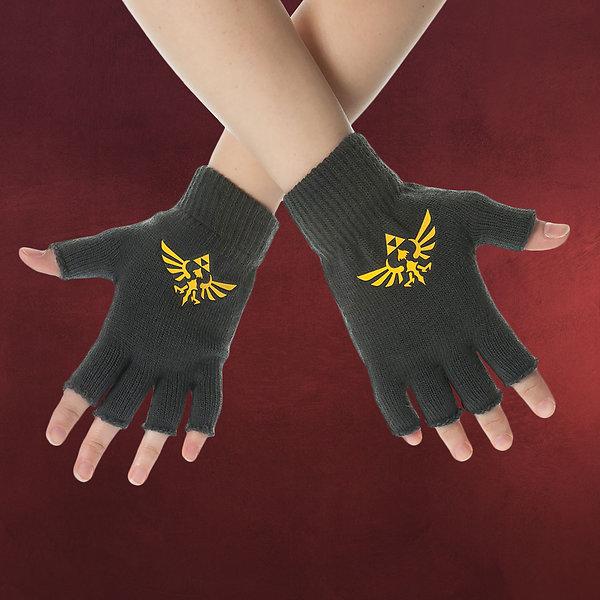 Zelda - Fingerlose Logo Handschuhe grau