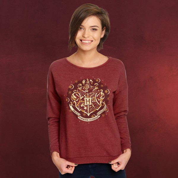 Harry Potter - Hogwarts Wappen Sweater Damen