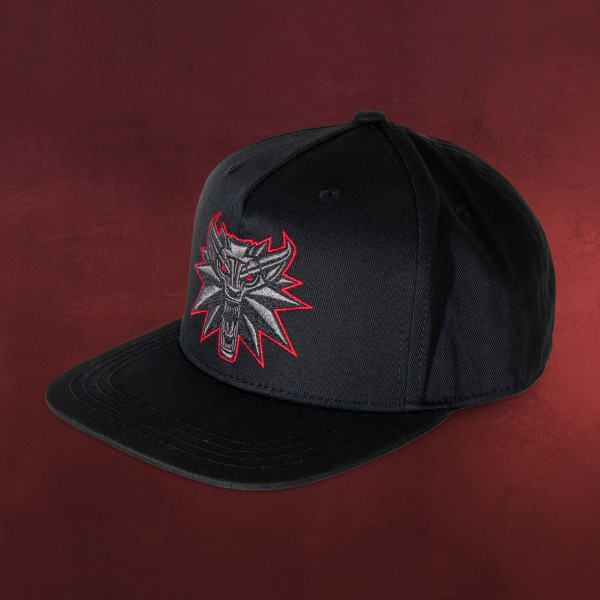 Witcher - Black Wolf Medaillon Snapback Cap