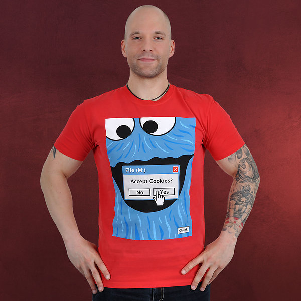 Browser Cookie Monster T-Shirt rot