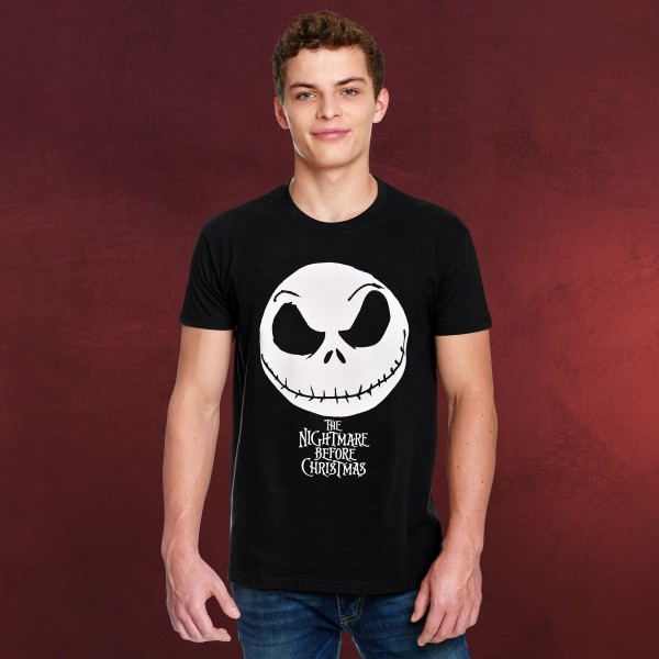 Nightmare Before Christmas - Jack Face T-Shirt schwarz