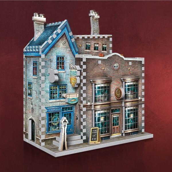 Harry Potter - Ollivanders Zauberstabladen & Scribbulus' Schreibwaren 3D Puzzle