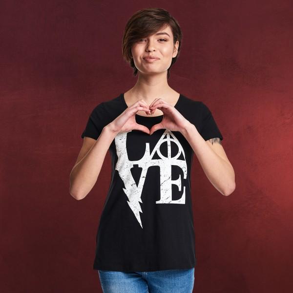 Wizarding Love Damen T-Shirt für Harry Potter Fans