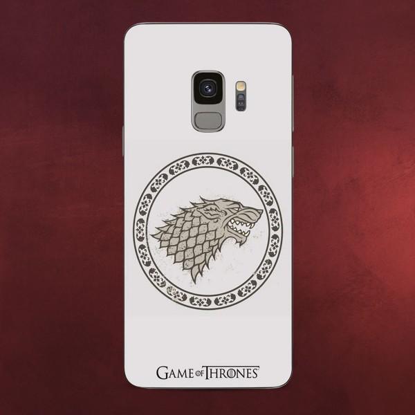 Game of Thrones - Stark Wappen Samsung Galaxy S9 Handyhülle Silikon weiß