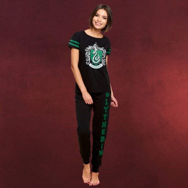 Harry Potter - Slytherin Wappen Pyjama Damen