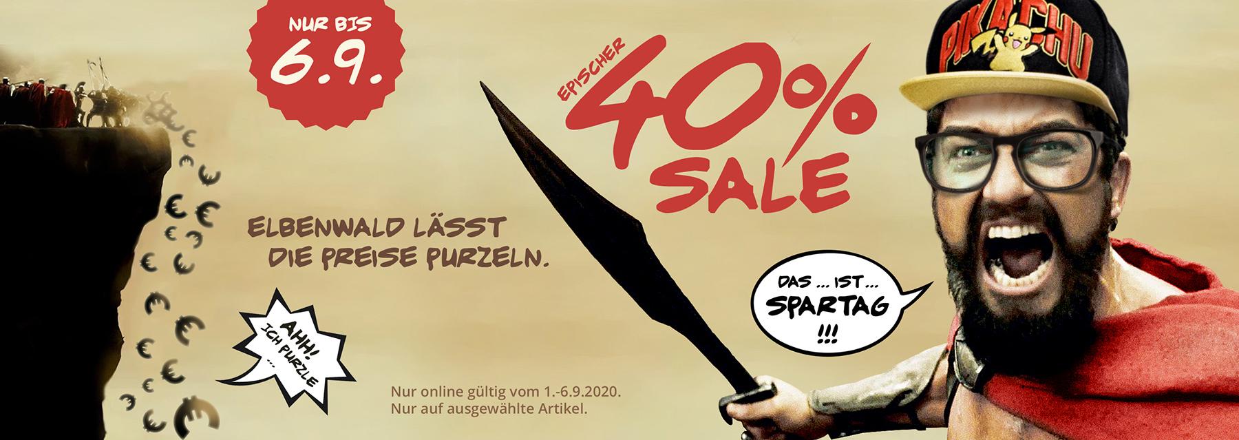 40% Sale - Das ist Spartag