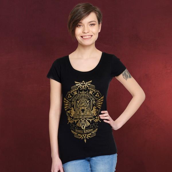 Zelda - Hyrule Kingdom T-Shirt Damen schwarz