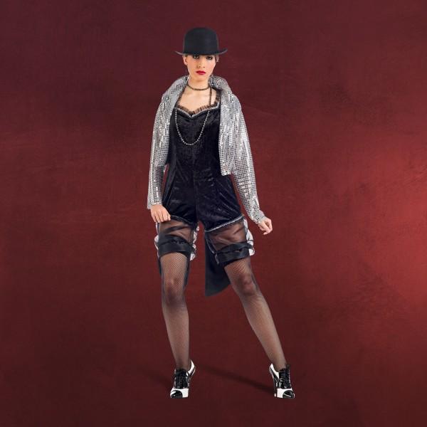 Cabaret Overall mit Jacke - Kostüm schwarz