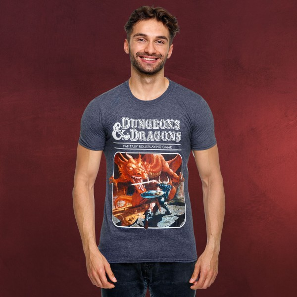 Dungeons & Dragons - Dragon Warrior T-Shirt blau