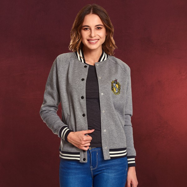 Harry Potter - Hufflepuff Wappen College Jacke Damen grau