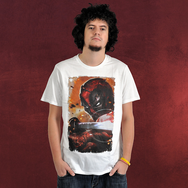 Deadpool - Katana T-Shirt weiß