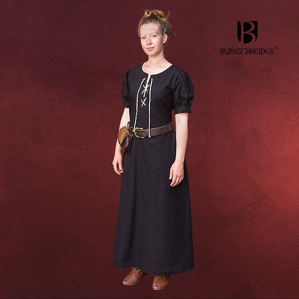 Mittelalter Kleid Gretl Kurzarm schwarz