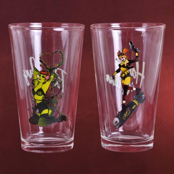 DC Comics - Harley Quinn und Poison Ivy Gläserset