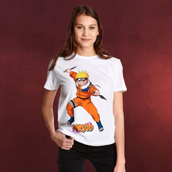 Naruto Uzumaki Character T-Shirt Damen weiß