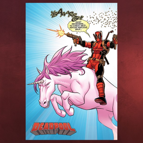 Deadpool - Unicorn Ride Maxi Poster