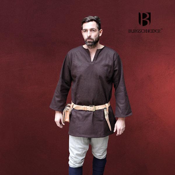 Mittelalter Wolltunika Lodin braun