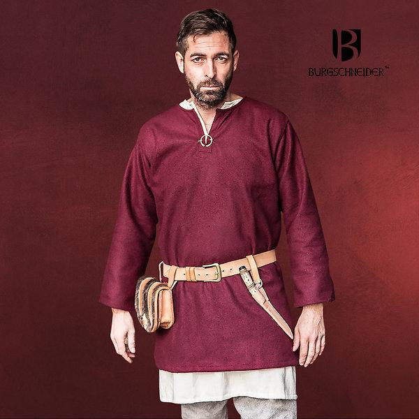 Mittelalter Wolltunika Lodin rot