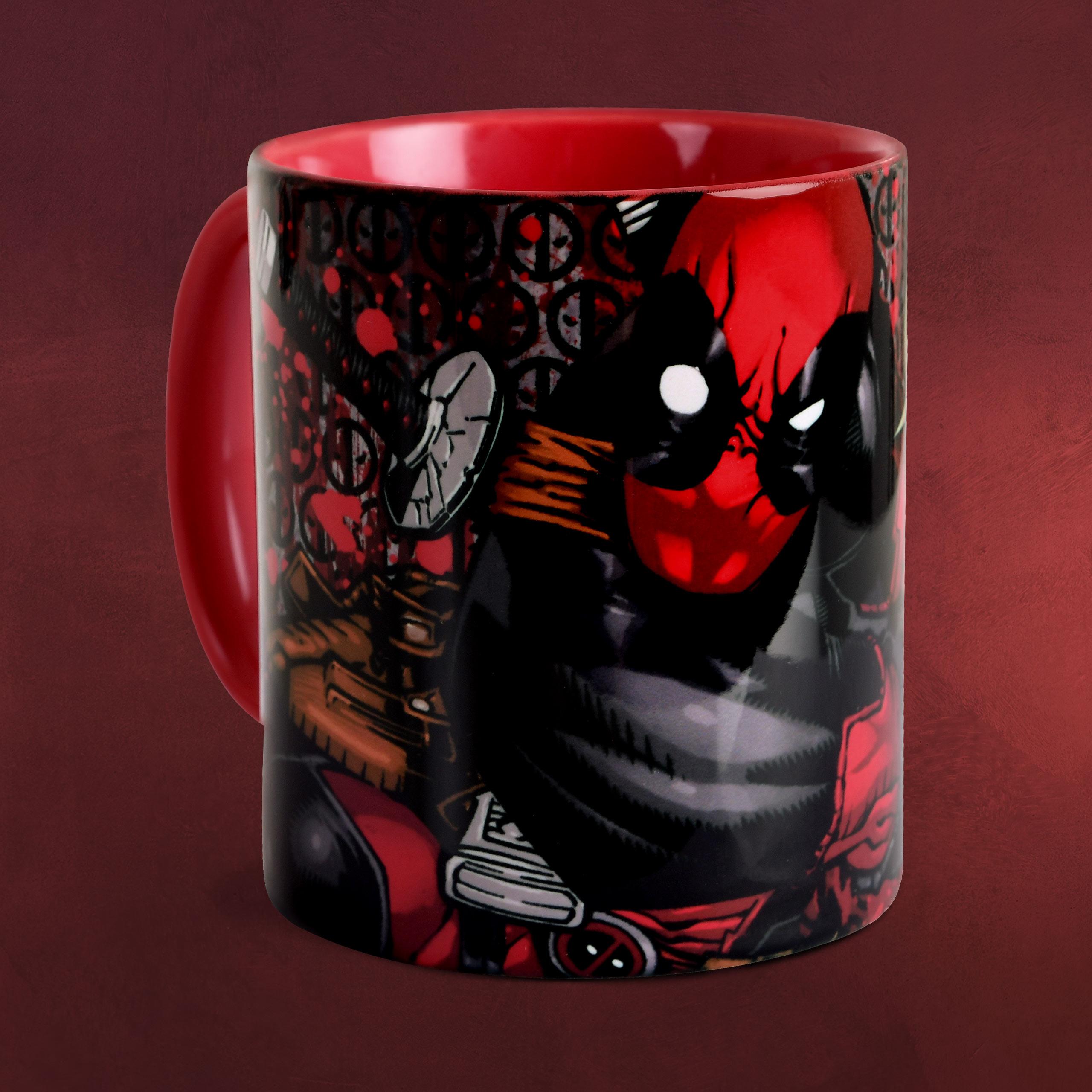 Deadpool Comic Tasse Rot Elbenwald