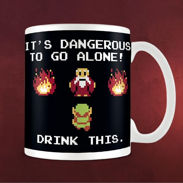 Zelda - Dangerous To Go Alone Tasse