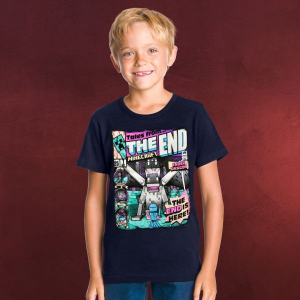 Minecraft - Tales from the End T-Shirt Kinder blau