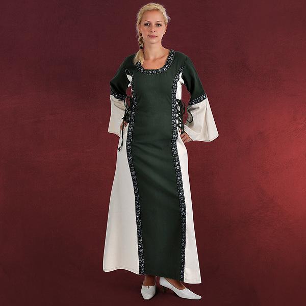 Mittelalter Kleid Tyra grün-natur