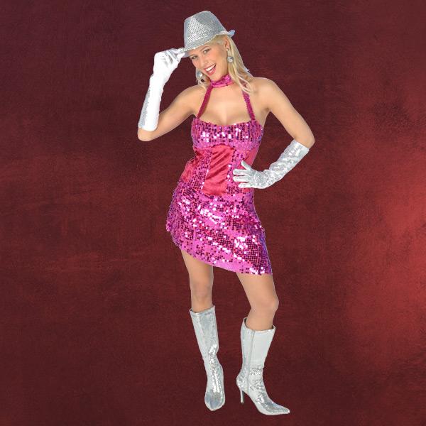 Paillettenkleid pink - Kostüm