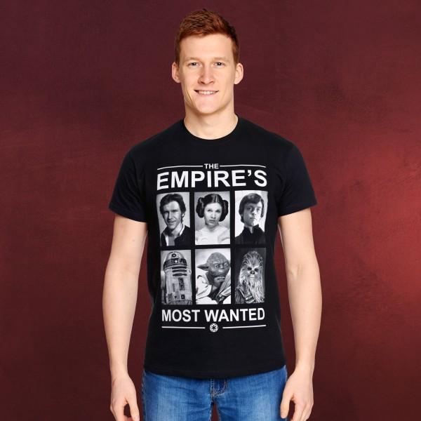 Star Wars - Empire's Most Wanted T-Shirt schwarz