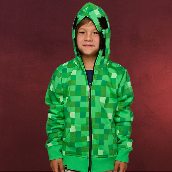 Minecraft - Creeper Kapuzenjacke für Kinder