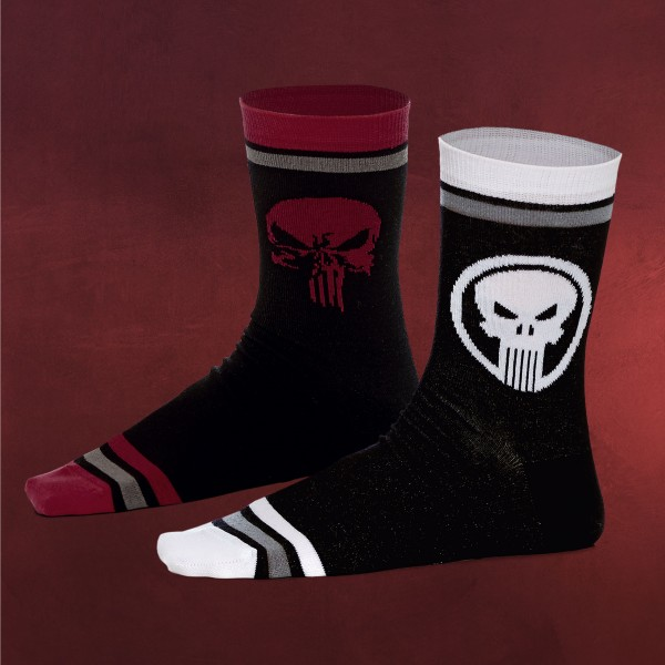 Punisher Skull Logo Socken 2er Set