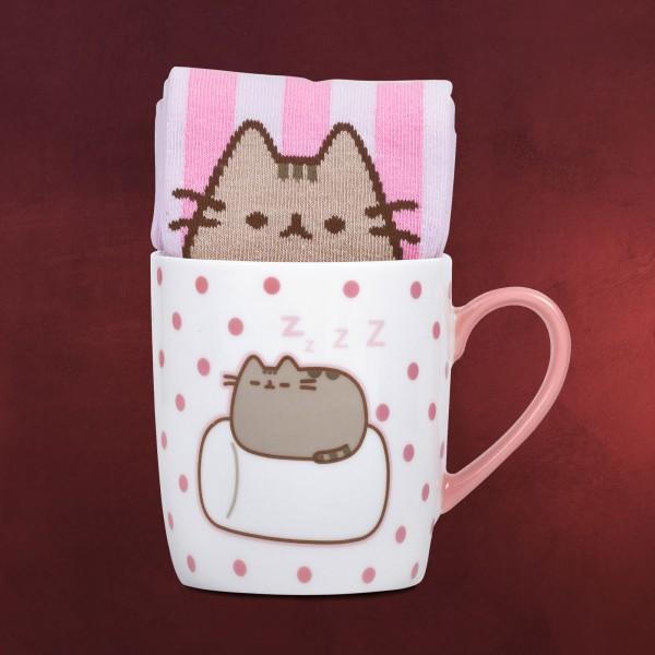 Pusheen - Marshmallow Socken und Tasse