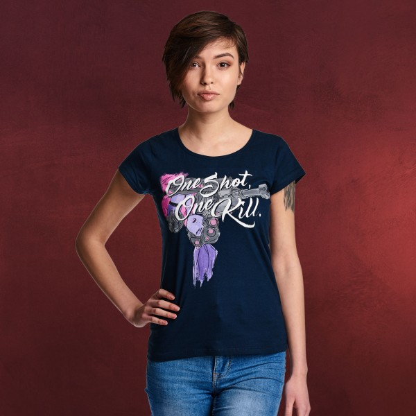 Overwatch - One Shot One Kill T-Shirt Damen blau