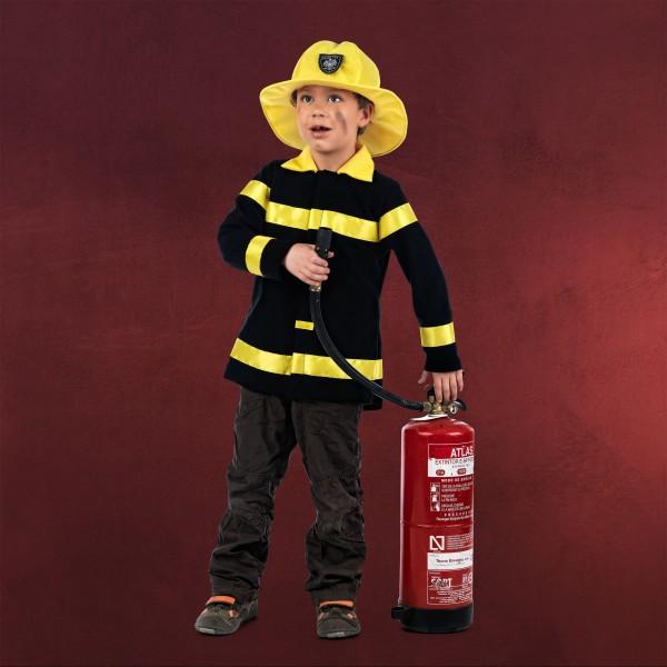 Feuerwehrmann Jacke mit Hut - Kinder Kostüm