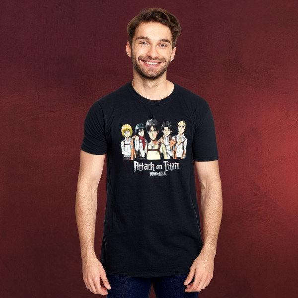 Attack on Titan - Group T-Shirt schwarz