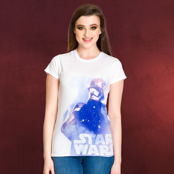 Star Wars - Phasma Galaxy - Girlie Shirt weiß