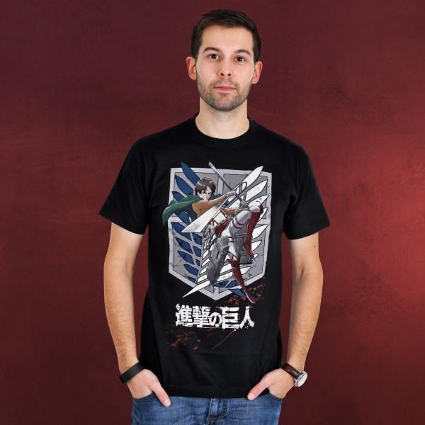 Attack on Titan - Eren Survey Corps T-Shirt schwarz
