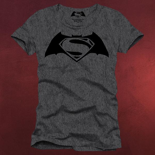 Batman v Superman - Logo T-Shirt grau