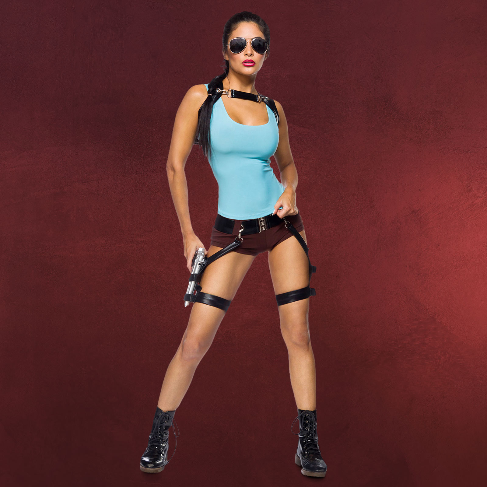 Action Girl Damen Kostüm Für Tomb Raider Fans Elbenwald