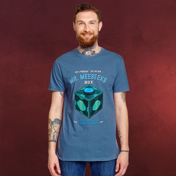 Rick and Morty Mr Meeseeks Face Mens T-Shirt